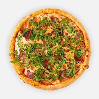 Pármais pizza (32cm) - paradicsomos alap, pármai sonka, sajt, rukkola - www.pizzarello.hu