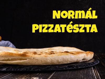 normál tésztás pizza