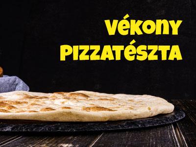 vékony tésztás pizza