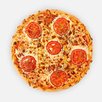 Margarello pizza (32 cm) - paradicsom alap, sajt, paradicsomkarika,szárított bazsalikom - www.pizzarello.hu