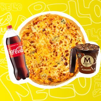 Négysajtos pizza Európa Bajnokság menüben - www.pizzarello.hu