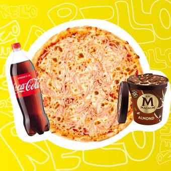 Sonkás pizza Európa Bajnokság menüben - www.pizzarello.hu